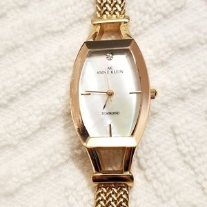 Anne Klein Diamond Watch Mother of Pearl Dial